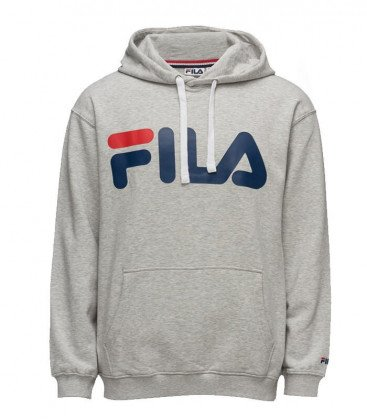 Fila - Classic Logo Hood Kangaroo Grey 7c4927e33b27